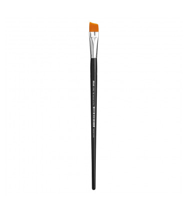 Synthetic bristle, angled flat tip artistic brush