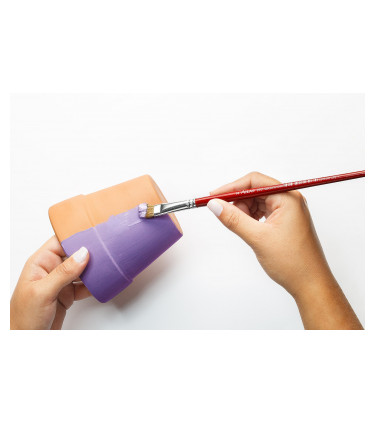 Goat soft bristle, flat tip artistic brush