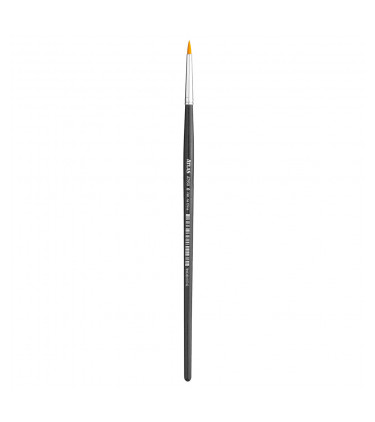 Synthetic bristle, round pointed tip artistic brush