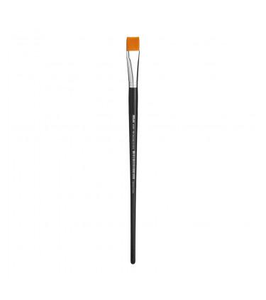 Synthetic bristle, flat tip artistic brush