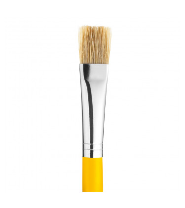 White bristle, flat tip artistic brush
