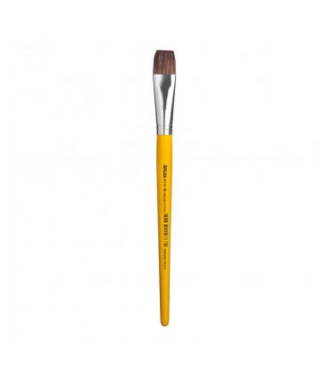 Ox ear hair, flat tip artistic brush